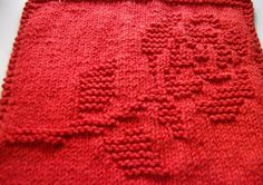 lil knit of this & that: Rose Dishcloth.....Free Pattern
