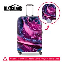 Cheap cover luggage, Buy Quality suitcase cover directly from China travel accessories Suppliers: Dispalang Rose Flower Suitcase Cover Luggage Waterproof Protective Cover Women Travel Accessories Supply inch Torrley Case Travel Luggage, Luggage Bags, Travel Bags, Best Travel Accessories, Traveling By Yourself, Suitcase, Make It Yourself, Alibaba Group, Rose