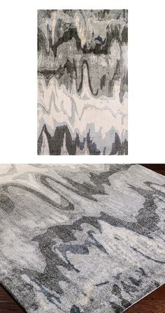 Elevate the landscape of your living space with this stunning hand-tufted bamboo silk rug. The lustrous sheen and melded gray, moss, and ivory tones will turn your bare floor into a mural nature could ...  Find the Sand and Slate Rug, as seen in the Dark & Stormy Modern Collection at http://dotandbo.com/collections/dark-and-stormy-modern?utm_source=pinterest&utm_medium=organic&db_sku=116814