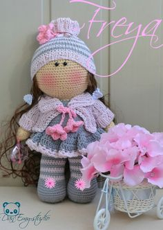 """DanEmy-studio""-студия вязаных чудес Cute Crochet, Beautiful Crochet, Beautiful Dolls, Crochet Baby, Knit Crochet, Crochet Doll Clothes, Knitted Dolls, Crochet Dolls, Crochet Doll Pattern"