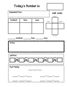 Printed & shared w/ team (val, 4/12/12): For a daily number practice....free from TPT