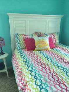 New Cynthia Rowley Twin Xl Comforter Set Ruffles Teal
