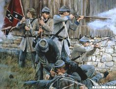 Grey Cover for Grey Rifles by Chris Collingwood. Confederate skirmishers of the 19th Virginia Volunteers take over behind a farmhouse during the early stages of the war 1861.