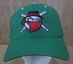 904d01f930f BANDITS BASEBALL Hat Green Flex Fit Pro 590 Fitted Size Med-Large Cap  Richardson