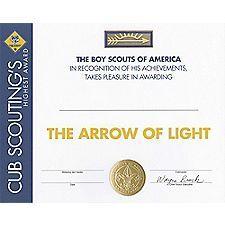 Boy Scout Arrow Of Light