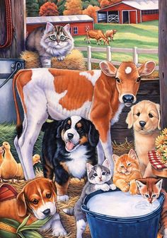 Garden Flag Animals in the Barn - Fort Valley Bob's Simple Man Store