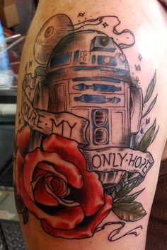 Excellent R2-D2 tattoo.