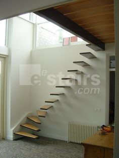 floating corner stairs