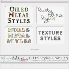Manu Scraps and Snickerdoodle Designs CU Styles Grab Bag - Thanksgiving Weekend 2017 Special