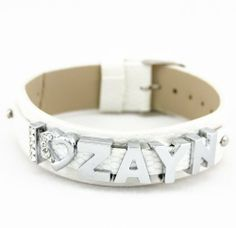 """1d Crystal Slider Letter Pure White Wristband Bracelet - I Love Zayn 1d Series. $10.99. Crystal Slider Letter Double Layer Bracelet I Love 1D. Length:22cm (9"""")  Width:2cm(0.75"""")"""