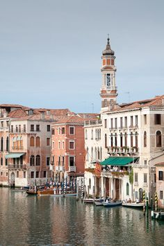 View from Ponte Rialto, Venice, Italy