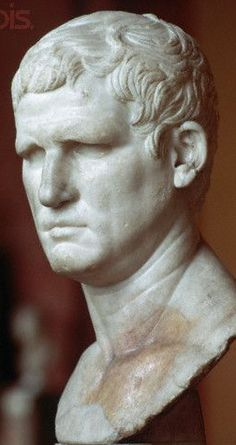 Marcus Vipsanius Agrippa (63-12 BC). Etruscan descendant - as his first work he chose to repair the sewers and install the water-supply to Rome, including the famous Fountains still running today. He served under Julius Caesar as cavalry officer in the Munda battle (45 a.C.)