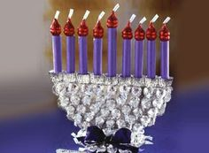 HERSHEY'S KISSES Chocolates Sweet Menorah