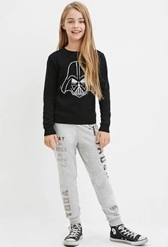 Girls Star Wars Graphic Sweatpants (Kids) | Forever 21 #forever21kids