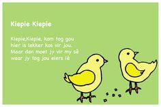 Kiepie Kiepie - Kinderrympies in Afrikaans Quotes Dream, Life Quotes Love, Napoleon Hill, Robert Kiyosaki, Tony Robbins, Alfresco Designs, Afrikaans Language, Rhymes Songs, Afrikaans Quotes