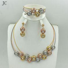 2017New High Quality Italy 750 Jewelry Sets Fashion Parure Bijoux Femme Dubai Arican Earrings Necklace China Choker - http://jewelryfromchina.com/?product=2017new-high-quality-italy-750-jewelry-sets-fashion-parure-bijoux-femme-dubai-arican-earrings-necklace-china-choker