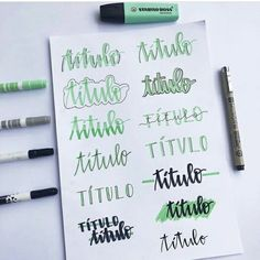 25 Awesome Bullet Journal Ideas to Boost your Motivation Lettering Tutorial, Hand Lettering Fonts, Doodle Lettering, Brush Lettering, Bullet Journal Fonts, Bullet Journal Headers, Bullet Journal 2019, Bullet Journal Inspiration, Bellet Journal