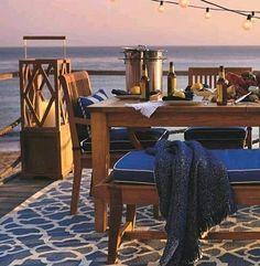 Perfect!!!! #decor#decorating#decoração#outside#view#entardecer#evening#charming#table#madeira#wood#style#homestyle#homedecor#dinner#instagood#instahome#cool#idea#inspiration#interiordesign#sandecor