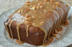 Chocolate Chip Banana Bread with Peanut Butter Drizzle