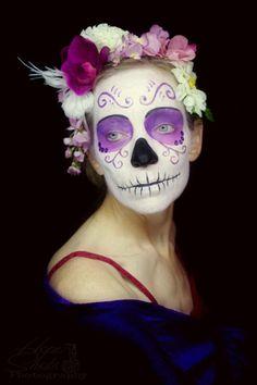 Hope Shots Photography Artist Unique Irish Model Diane P.K. Sugar Skull Face painting