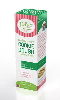 Belgian Chocolate Chip Cookie Dough by Delect.