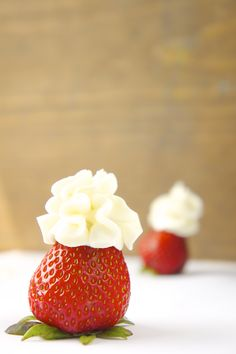 Substitute for Cool Whip - YelenaSweets // use whipping cream + gelatin + powdered sugar to stabilize real whipped cream instead.