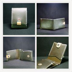 slim fold wallet(Olive green)