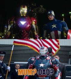 Iron Man + Captain America = Iron Patriot