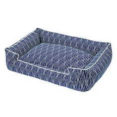 Jax and Bones Pearl Cotton Blend Lounge Dog Bed Medium Navy -- Check out the image by visiting the link.