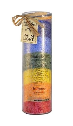 Palm Light Chakra Kerze, Bunt