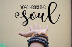 Yoga heals the soul wall decal/sticker/deco for your home yoga spcae or yoga studio