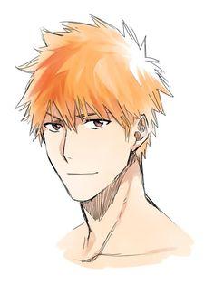 Ichigo Kurosaki from Bleach Manga Bleach, Bleach Fanart, Sad Anime, Anime Art, Inoue Orihime, Bleach Characters, Handsome Anime Guys, Natsume Yuujinchou, Otaku
