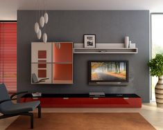 I wish I had a  wall where I could do something like this.    Image detail for -modern small living room design ideas 150x150 Living Room Design Ideas ...