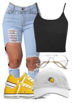 """""""aug 13th,2016"""" by shaystaxx ❤ liked on Polyvore featuring Converse, ZeroUV and Topshop"""
