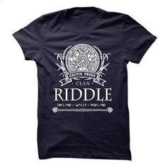 RIDDLE Celtic Pride - #tee party #nike hoodie. GET YOURS => https://www.sunfrog.com/Names/RIDDLE-Celtic-Pride.html?68278