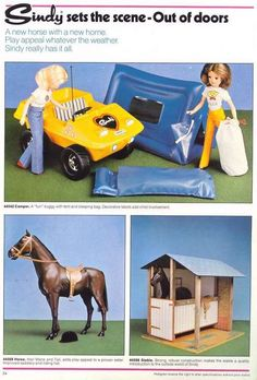 Sindy camping and horse 1980s Childhood, My Childhood Memories, Barbie Playsets, Tammy Doll, 70s Toys, Sindy Doll, Vintage Dolls, Children, Kids