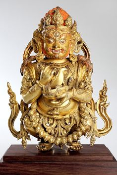 Mahakala   Yongle period, presreved in Tibet, 15th c.  Gilt bronze
