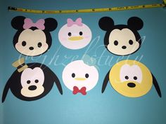 12 PRINTABLE Tsum Tsum Cupcake Toppers Instant Download Printable