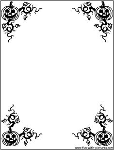Halloween Coloring Pages | Halloween Borders Coloring Page Pictures