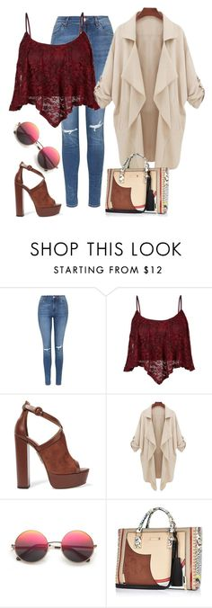 """""""Tomorrow is my birthday"""" by boneca-costa ❤ liked on Polyvore featuring Topshop, Aquazzura and River Island"""