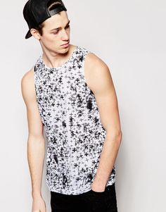 """Vest by Cheap Monday Soft-touch jersey All-over print Crew neck Regular fit - true to size Machine wash 100% Cotton Our model wears a size Medium and is 187cm/6'1.5"""" tall"""