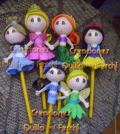Creaciones Quillo & Ferchi: Princesas en Lápiz