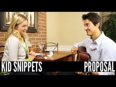 New Kid Snippets videos every MONDAY.  If movies were written by our children...  We asked a couple kids to play out a marriage proposal. This is what they came up with.    Produced by Bored Shorts TV  Filmed and Edited by Houston Holbrook  Additional editing by Ryan Haldeman  Starring:  Richard Sharrah  Kelly Hennessey  Editing Consultants:  John Robert...