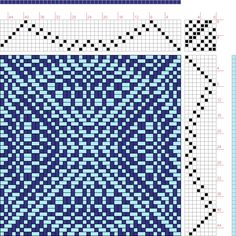 draft image: New Draft, Donna Reed, Inkle Weaving, Inkle Loom, Tablet Weaving, Bead Weaving, Weaving Designs, Weaving Projects, Weaving Patterns, Stitch Patterns, Knitting Patterns