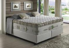 cama alta / tapete em frente