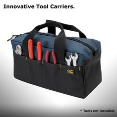 A superior economical tool tote bag with lots of pockets that will carry all of your basic tools.