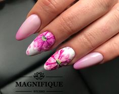 Spring Nails flowers painting nail Art