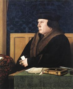 Hans Holbein the Younger – Thomas Cromwell (1533) oil on oak New York, Frick Collection Web Gallery of Art