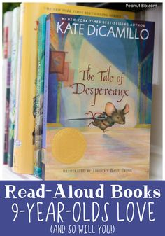 The Tale of Despereaux is just one of the read aloud books your 9 year old will love, and so will you! Don't waste your time with books that bore you when these fantastic titles are waiting for you to pick them up. Best Books List, Great Books, Book Lists, My Books, Reading Lists, The Tale Of Despereaux, Read Aloud Books, Old Love, 9 Year Olds