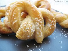 love this pretzel dough {bread machine} recipe to make pretzel-wrapped hot dogs.....